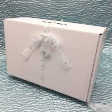 wedding dress box small wedding dress box with sheer ribbon