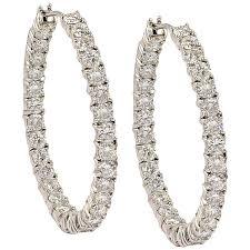 diamond hoops graff diamond gold hoop earrings at 1stdibs