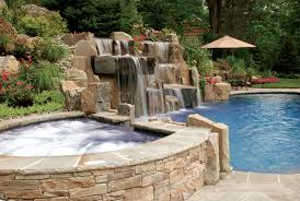 Backyard Pool Designs by Triyae Com U003d Backyard River Rock Waterfall Various Design