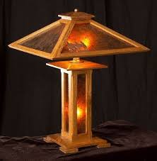 mission style lamp woodworking plans downloadable free plans