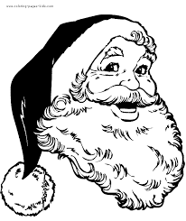 happy santa color christmas coloring pages holiday