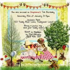 teddy bears picnic printable invitation free printables