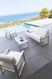 mobilier de jardin en solde salon de jardin blanc pas cher table jardin avec rallonge