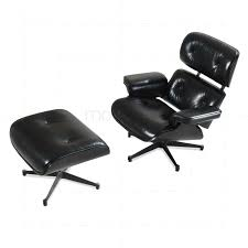charles eames lounge chair and ottoman black