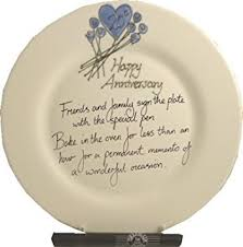 anniversary plate 20th wedding china anniversary plate flower rd