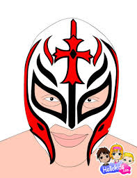 drawn masks rey mysterio pencil and in color drawn masks rey