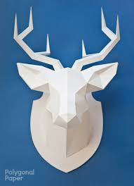 deer head template with manual on english