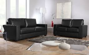 mission black leather sofa sofas couch settee ebay