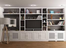 wall mounted shelves around tv