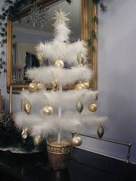 white feather boas added to the tree