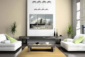 lighthouse in the waves of the sea wall art painting the picture