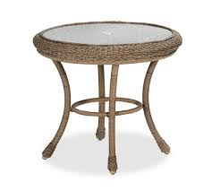 pottery barn bistro table saybrook all weather wicker round fixed bistro table pottery barn