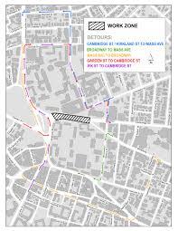 Harvard Map Cambridge Street Tunnel Closure Beginning July 30 City Of