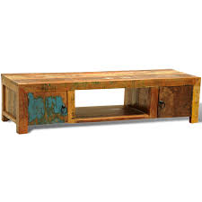 reclaimed wood tv cabinet with 2 doors vintage antique style