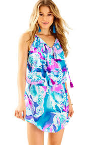 Lilly Pulitzer Swell Lilly Pulitzer Minda Silk Dress In Blue Lyst