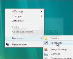 creer icone bureau créer un raccourci vers le gestionnaire de périphériques windows