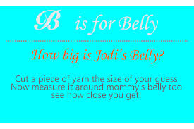 measure mommys tummy baby shower game