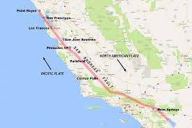 Map Fault Lines United States by San Andreas Fault In California Pictorial Visitor Guide