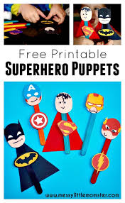 simple craft stick superhero puppet activity kids