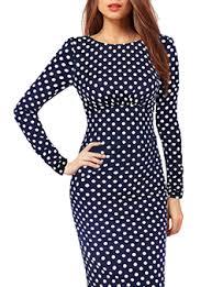 blue polka dot dress dresshead
