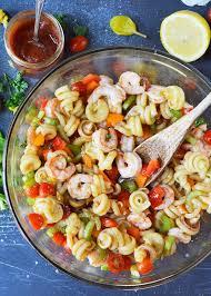 pasta salda bloody mary shrimp pasta salad wonkywonderful