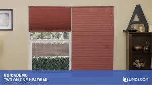 2 on 1 headrail for cellular shades quickdemo u0026raquo
