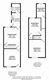 Terraced House Floor Plan by Whitegates Wolverhampton 3 Bedroom Terraced House For Sale In