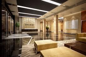 lobby hall 3d office interior cgtrader