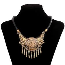 big chain necklace fashion images Women vintage big pendants string necklace fashion jewelry choker jpg