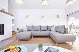 canapé d angle rue du commerce bobochic minty panoramique droit canapé d angle convertible gris