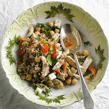 Summer Lunches Entertaining - salad with chickpeas feta and mint
