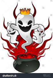 halloween ghosts potion illustration stock vector 216080731