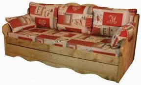 canape montagne canapé avec 3 places en bois massif meuble de montagne