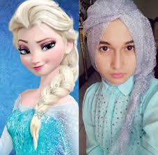 tutorial kepang rambut frozen hijab style 5 hijabers bergaya ala elsa frozen kaskus