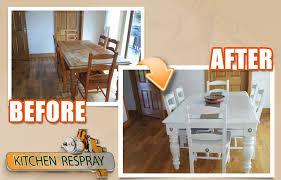 Furniture Respray Kitchen Respray - Painting kitchen table