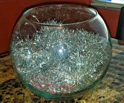 fish bowl centerpieces diy silver gold christmas fish bowl centerpiece on a budget