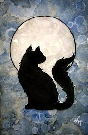 moon cat by linmh on deviantart