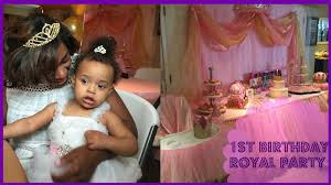 ideas for baby s birthday baby girl birthday party decoration ideas royal party theme