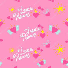 pink little princess pattern vector sweet background for
