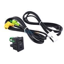 aux usb switch cable for rcd510 rcd310 rns315 vw passat b6 b7 cc
