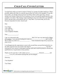 cold call cover letter graphic design