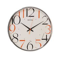 silent wall clocks rhythm contemporary rhythm wall clock silent wall clock amazon