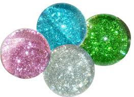 glitter water balls color glossy bouncy