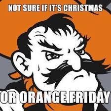 Oklahoma State Memes - oklahoma state pistol pete meme orange friday game day