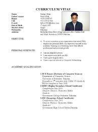 Template For Academic Resume Farhan Cv From Pakistan
