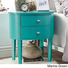 Teal Accent Table Aldine 2 Drawer Oval Wood Accent Table By Inspire Q Bold Free