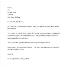 two weeks notice two week resignation letter samples formal