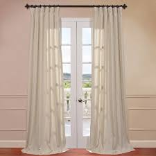 Halfpriced Drapes Half Price Drapes Hilo Natural Linen Rod Pocket Single Curtain