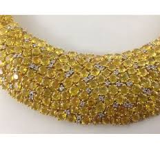 sapphire necklace yellow gold images 18kt yellow gold rhodium finish natural yellow sapphire jpg