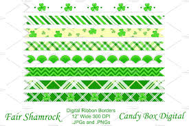 shamrock ribbon fair shamrock ribbon borders objects creative market